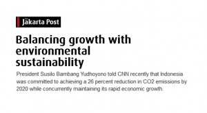 Balancing growth with environmental sustainability