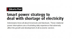 Smart power strategy to deal with shortage of electricity