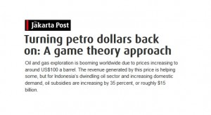 Turning petro dollars back on: A game theory approach