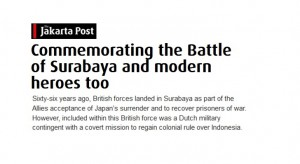 Commemorating the Battle of Surabaya and modern heroes too