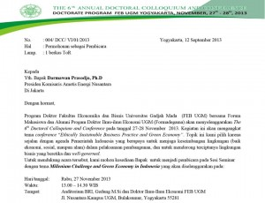 UGM - 6th Annual Doctoral Colloquium and Conference