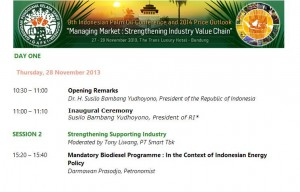 "GAPKI 28-Nov-2013 ""9th Indonesian Palm Oil Conference and 2014 Price Outlook"""