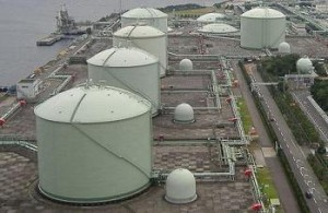 LNG terminal in Japan.