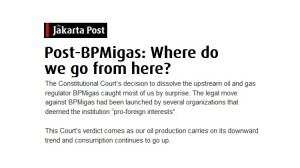 Post-BPMigas: Where do we go from here?
