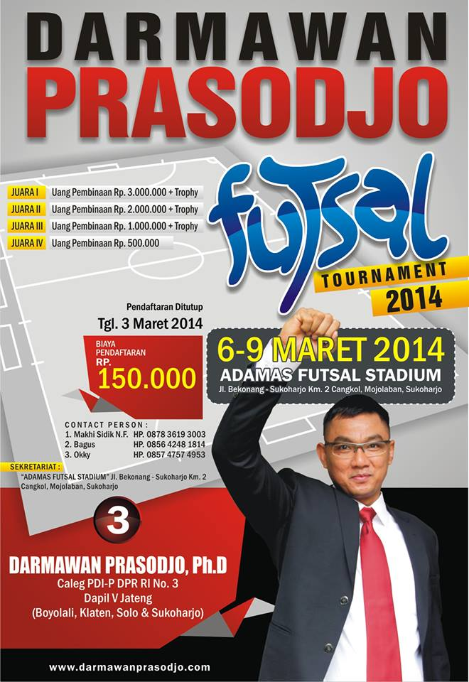 Darmawan Prasodjo Futsal Tournament 2014